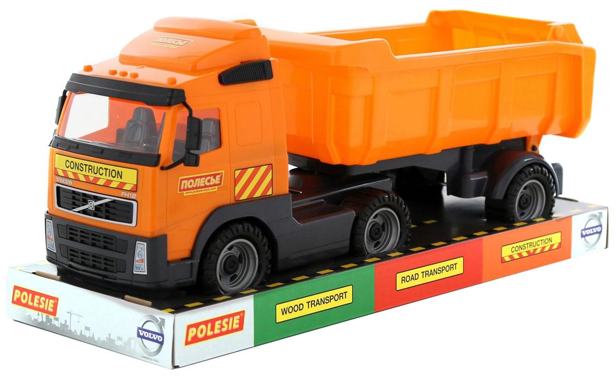 Полесье Самосвал с полуприцепом Volvo 58393 машинка детская полесье полесье автомобиль самосвал супергигант