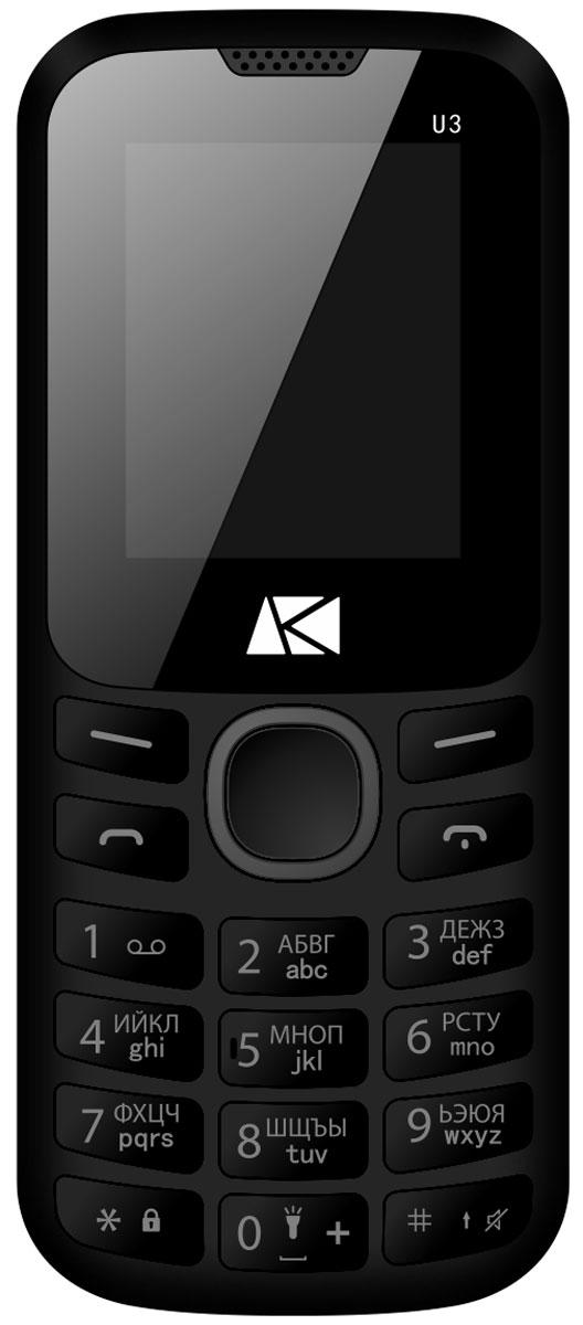 Ark Benefit U3, GreyBenefit U3 GreyМобильный телефон Ark Benefit U3 оснащен 1,8-дюймовым полноцветным дисплеем, удобным для повседневного использования.Встроенное ПО устройства позволяет воспроизводить аудио- и видеофайлы в популярных форматах, а также прослушивать любимые радиопередачи. Мультимедийные файлы можно записывать на карту памяти microSD емкостью до 32 Гб.Полного заряда емкого аккумулятора 600 мАч хватает на 5 часов непрерывного разговора или 120 часов работы в режиме ожидания. Телефон оснащен тыловой камерой, а также Bluetooth-модулем, предназначенным для беспроводной передачи данных.Поддержка двух SIM-карт позволяет использовать телефон в качестве личного и рабочего одновременно. Кроме того, с двумя SIM-картами можно уменьшать расходы, управляя тарифными планами различных мобильных операторов.Телефон сертифицирован EAC и имеет русифицированную клавиатуру, меню и Руководство пользователя.