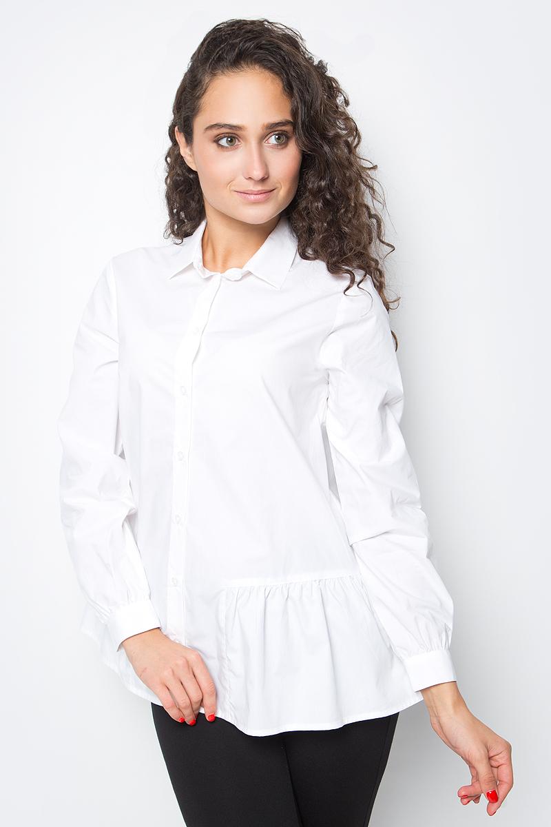 Блузка женская Baon, цвет: белый. B177518_White. Размер L (48) baon весна лето 2017 vogue
