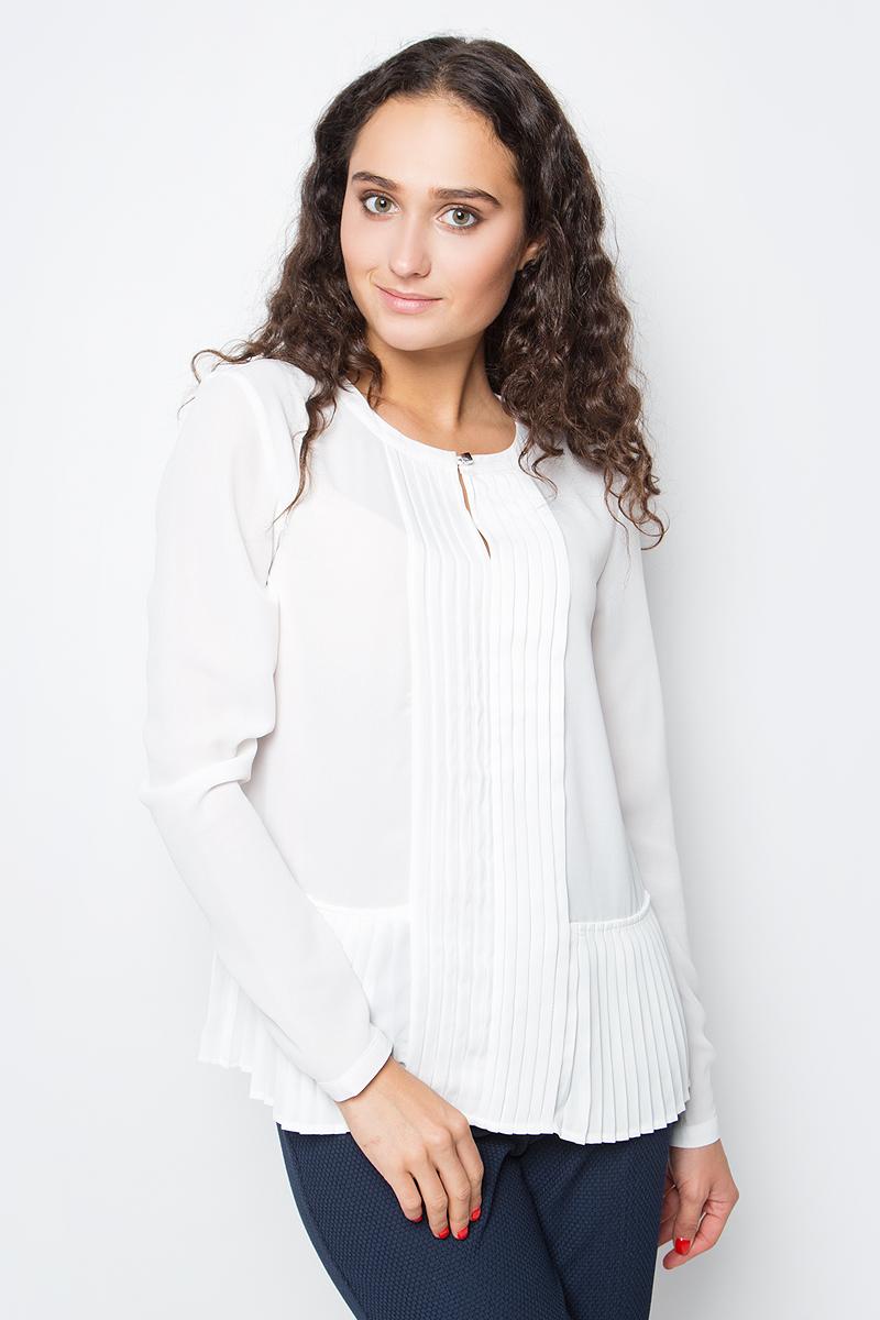 Купить Блузка женская Baon, цвет: белый. B177523_Milk. Размер M (46)
