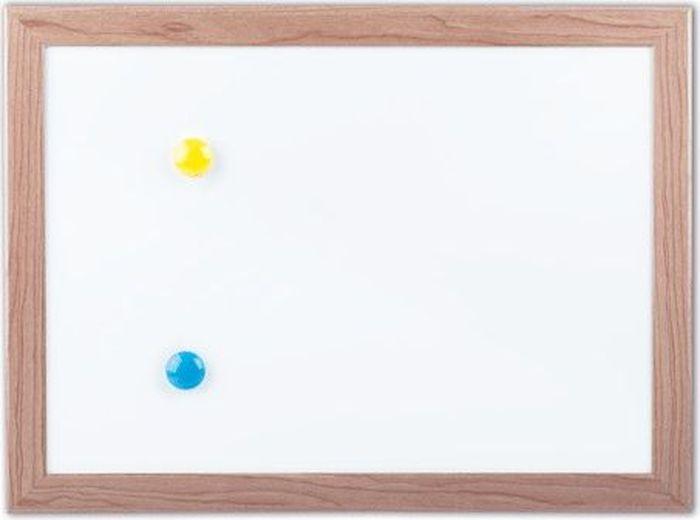 Brauberg Доска магнитно-маркерная 25,4 х 34,2 см231993Покрытие позволяет писать специальными маркерами для белой доски. На поверхности доски можно легко размещать информацию при помощи магнитов. Широко используется в офисах и образовательных учреждениях. Также подходит для домашней эксплуатации.