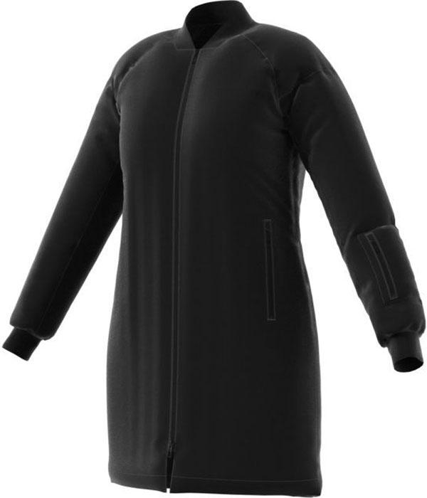 Пуховик-бомбер женский Adidas W Nuvic, цвет: черный. BQ6816. Размер S (42/44)BQ6816Пуховик от adidas NUVIC BOMBER выполнен из плотного быстросохнущего полиэстера с утеплителем из натурального утиного пуха и пера. Модель прямого кроя застегивается на молнию и имеет боковые карманы с медиа каналом. Рукава дополнены трикотажными манжетами и небольшим кармашком.