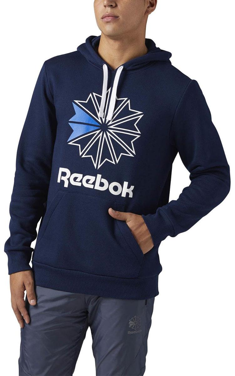 Худи мужское Reebok F Star Hoody, цвет: темно-синий. BR5024. Размер XL (56/58) худи reebok худи f gr half zip hoody mgreyh