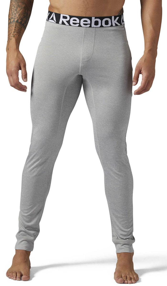 Термобелье брюки мужские Reebok Outdoor Thermal, цвет: серый. S96408. Размер M (48/50)S96408Мужские термо-тайтсы от Reebok для холодных утренних пробежек. Отлично сохраняют тепло во время занятий спортом в холодное время года.