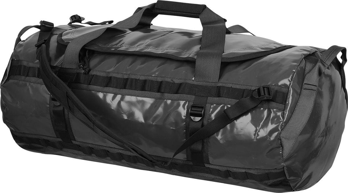 Баул Сплав Классик, цвет: черный, 40 х 33 х 80 см, 100 л5034640Удобный, влагозащитный транспортный баул для транспортировки снаряженияБольшой удобный вход на молнии для лёгкого доступа к вещам и снаряжениюЛямки для ношения за спинойУдобная ручка для переноски в рукеДве ручки с торцов для погрузки-разгрузкиВнутренние сетчатые карманы на молнии с торцов и под клапаном баулаИзвестно, что едва ли не самой тяжелой и ответственной частью похода является заброска снаряжения. Водники преодолевают категорийные перевалы с катамаранами за спиной, альпинисты, спелеологи и исследователи Арктики затаскивают несметное количество груза в базовые лагеря. Большое счастье, когда есть вертолет, собаки или верблюды, но и здесь есть свои подводные камни – груз должен добраться до лагеря целым.Какие бы дикие и необъезженные виды транспорта вы не использовали, доставить снаряжение в целости и сохранности помогут транспортные баулы. Прочные водостойкие, не боящиеся грязи и пыли, обеспечивающие свободный доступ к вещам они становятся однозначным выбором и для любителей авто путешествий, путешествий на квадрациклах или снегоходах.Баулы Классик 60, 80, 100 и 120 изготовлены из ПВХ- ткани теза , которая при относительно малом весе обладает водонепроницаемостью, стойкостью к перепадам температур, ультрафиолету и антибактериальной устойчивостью.Двухзамковая молния обеспечивает свободный доступ к снаряжению и закрыта от попадания влаги внутрь широким клапаном.Съемные лямки анатомической формы позволяют переносить баул на спине.Две удобные ручки для переноски скрепляются между собой липучкой. Торцевые ручки для погрузки специальной формы, что обеспечивает правильное распределение нагрузки.Для крепления баула к багажнику автомобиля, палубе катамарана и т.д., а также различных навесок предусмотрены по два ряда петель с каждой его стороны. В случае крепления баула за нижние петли, вам не понадобится отвязывать его, чтобы добраться до нужной вещи.Полезный объем регулируется боковыми стяжками.На внутрен