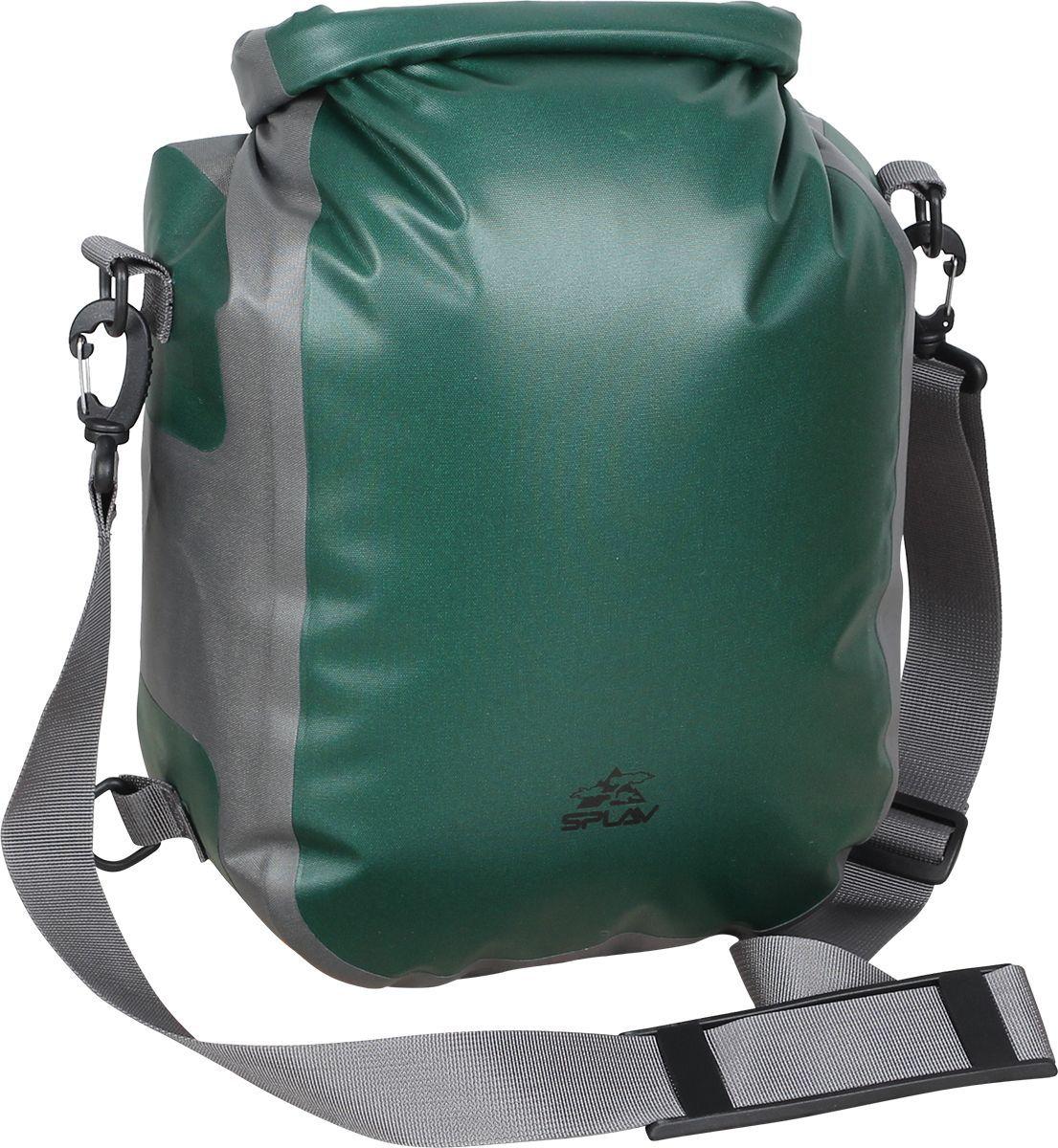 Гермосумка Сплав Shoulder, цвет: зеленый, 50 х 26 х 13 см5040250Небольшая полностью герметичная сумка для путешествийЛегко закручиваемый верх дает необходимую герметичность и при этом обеспечивает быстрый и легкий доступ к вещам, лежащим в сумкеСъемная стропа для ношения через плечоСумка изготовлена по сварной технологии. Все швы герметичныРазмер (В х Ш х Т): 50 х 26 х 13 см Материал: Nylon 420D TPUФурнитура: Duraflex