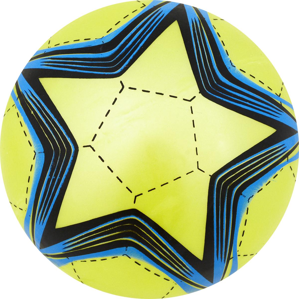 Забияка Мяч Звезда цвет салатовый 22 см