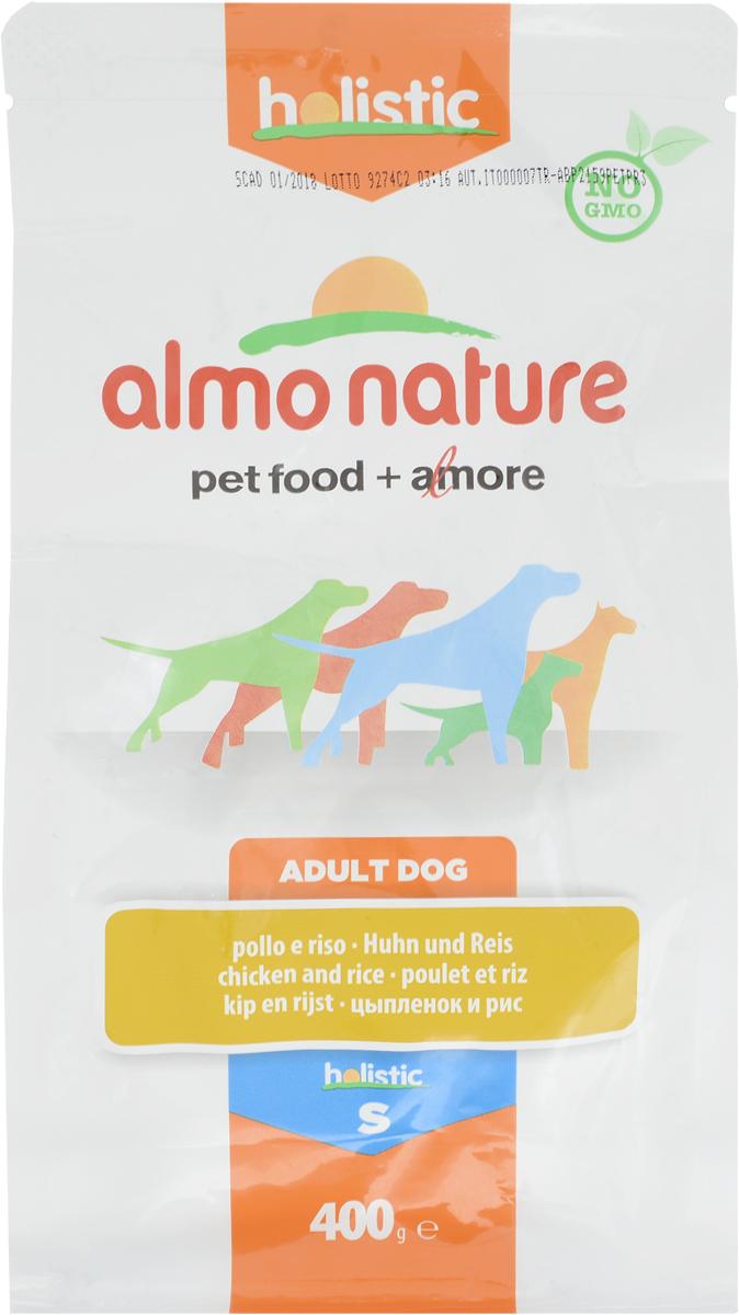 """Корм сухой """"Almo Nature"""", для взрослых собак малых пород, с цыпленком и рисом, 400 г"""