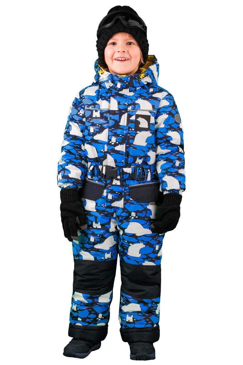 Комбинезон утепленный для мальчика Boom!, цвет: черный. 70482_BOB_вар.1. Размер 98, 3-4 года комплект верхней одежды для мальчика boom куртка брюки цвет синий черный 70335 bob вар 2 размер 98 3 4 года