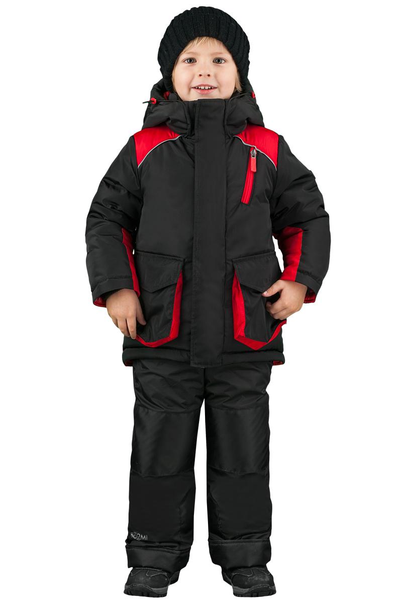 Комплект верхней одежды для мальчика Boom!: куртка, полукомбинезон, цвет: красный. 70483_BOB_вар.2. Размер 110, 5-6 лет70483_BOB_вар.2Комплект одежды для мальчика Boom! состоит из куртки и полукомбинезона. Куртка с капюшоном застегивается на застежку молнию и дополнительно оснащена ветрозащитной планкой. Куртка дополнена накладными фигурными карманами. Полукомбинезон очень практичен: хорошо закрывает грудку и спинку ребенка, широкие эластичные регулируемые лямки.