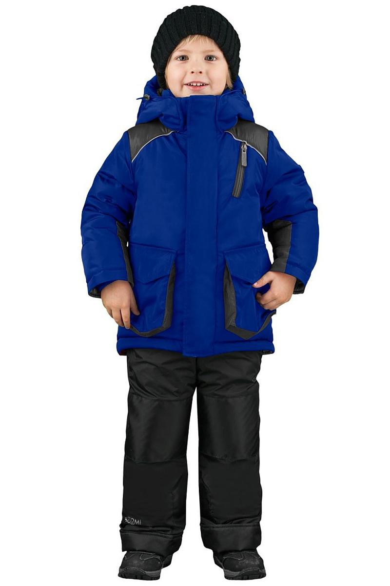 Комплект верхней одежды для мальчика Boom!: куртка, полукомбинезон, цвет: синий. 70483_BOB_вар.1. Размер 122, 7-8 лет70483_BOB_вар.1Комплект одежды для мальчика Boom! состоит из куртки и полукомбинезона. Куртка с капюшоном застегивается на застежку молнию и дополнительно оснащена ветрозащитной планкой. Куртка дополнена накладными фигурными карманами. Полукомбинезон очень практичен: хорошо закрывает грудку и спинку ребенка, широкие эластичные регулируемые лямки.