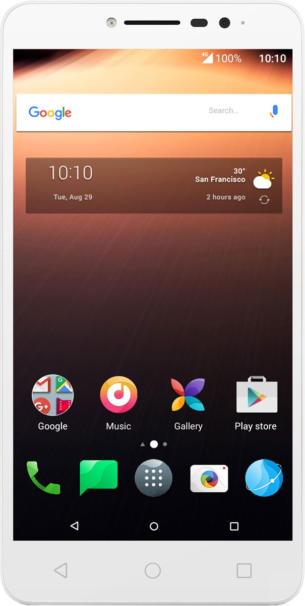 Alcatel 9008D A3 XL, White Blue4894461455549Alcatel A3 XL сочетает в себе отличный дизайн, большой 6-дюймовый экран, сканер отпечатков пальцев и высокую скорость загрузки данных с технологией 4G.Отличное изображение под любым углом и даже при ярком солнечном свете благодаря 6-дюймовому IPS экрану с полной ламинацией. На полностью ламинированном 6-дюймовом дисплее с матрицей IPS смартфона A3 XL видны все детали даже при солнечном свете.Мгновенная разблокировка одним нажатием. Просто коснитесь сканера отпечатков пальцев для доступа к приложениям. Также можно делать снимки и принимать входящие вызовы легким касанием сканера отпечатков пальцев.Фронтальная вспышка позволяет делать красивые и яркие селфи даже в темноте. А с фильтрами приложения Маска очень легко показать неожиданные стороны своей натуры. Оживите свои снимки с помощью приложения Селфи-шоу. И не забудьте поделиться ими с друзьми. Создавайте мгновенные фото-композиции, используя приложение Коллаж. И наконец, умная функция Альбом для селфи поможет вам упорядочить все снимки.Оцените по достоинству внешний вид A3 XL - задняя панель дополнена цветными декоративными рамками. А для удобства использования тонкий элегантный корпус имеет рельефную отделку.Оценить превосходную чистоту звучания даже на высоком уровне громкости стало возможно благодя динамикам с технологией Arkamys.Телефон сертифицирован EAC и имеет русифицированный интерфейс меню и Руководство пользователя.