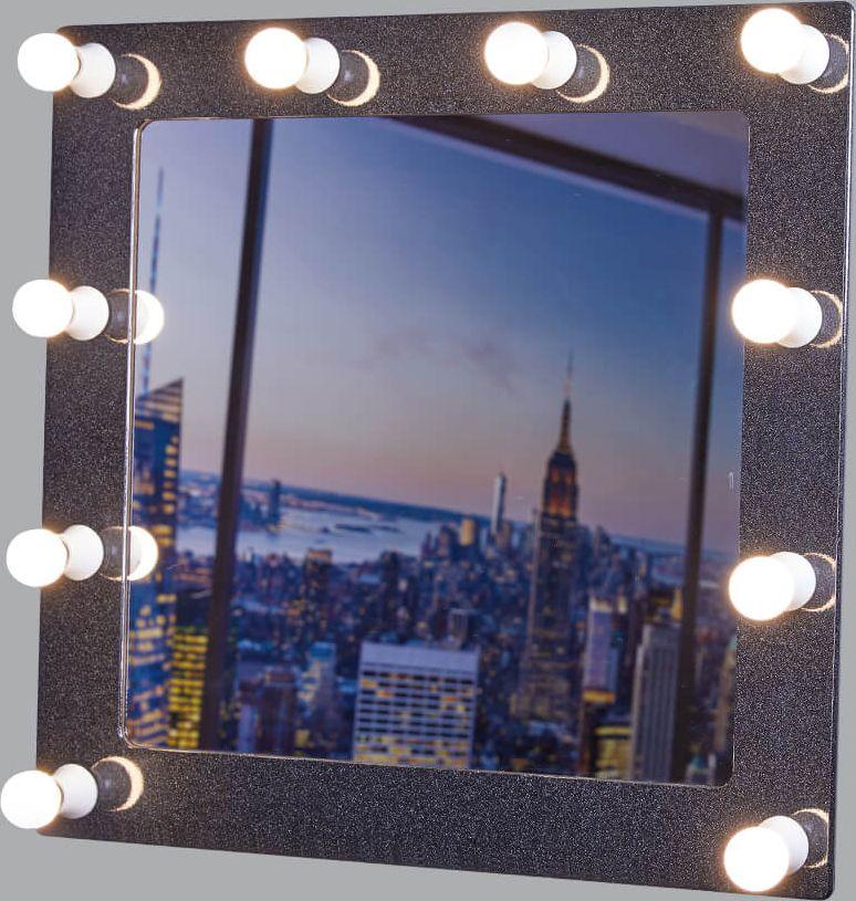 Гримерное зеркало - идеальное дополнение к дизайну вашего дома. Стильное и практичное,  выполненное из высококачественных материалов, гримерное зеркало превосходно впишется  абсолютно в любой интерьер. Это зеркало будет идеальным помощником для каждой  женщины, в процессе создания собственного неповторимого образа.   УВАЖАЕМЫЕ КЛИЕНТЫ!   Обращаем ваше внимание на тот факт, что лампочки в комплект не входят.