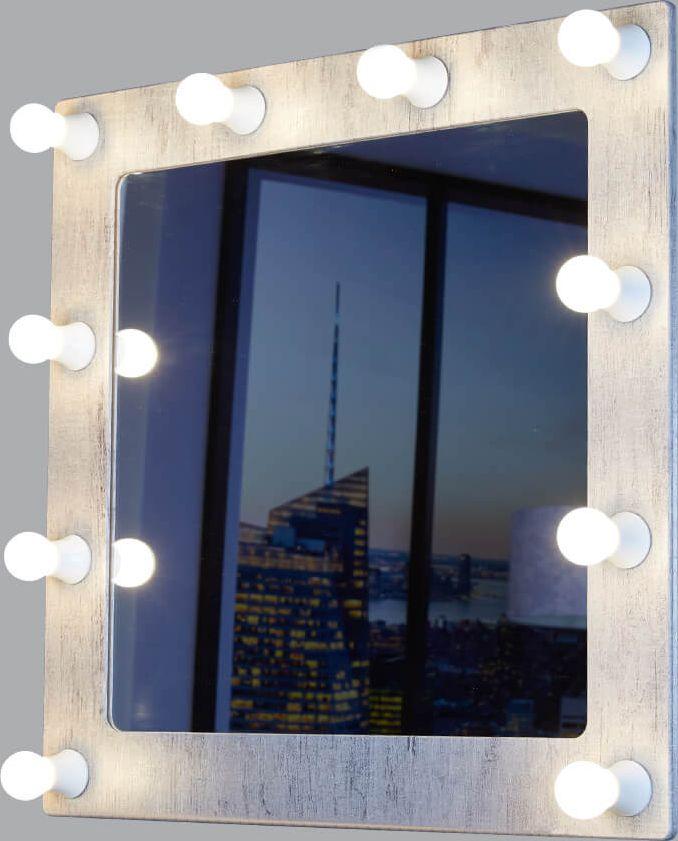 Светильник-зеркало Postermarket Грим, цвет: шпат (серый), 68 х 69,5 см. 229229 Грим 10 ШпатГримерное зеркало - идеальное дополнение к дизайну вашего дома. Стильное и практичное,выполненное из высококачественных материалов, гримерное зеркало превосходно впишетсяабсолютно в любой интерьер. Это зеркало будет идеальным помощником для каждойженщины, в процессе создания собственного неповторимого образа. УВАЖАЕМЫЕ КЛИЕНТЫ! Обращаем ваше внимание на тот факт, что лампочки в комплект не входят.