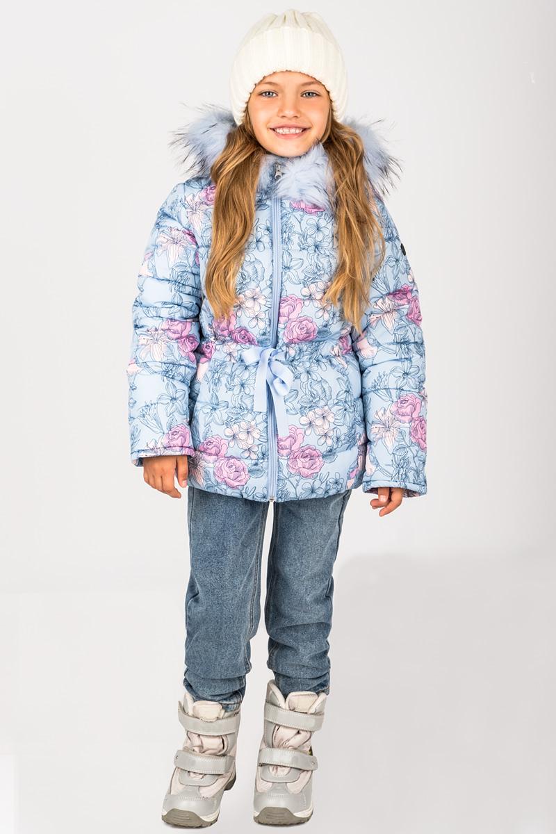 Куртка для девочки Boom!, цвет: голубой. 70472_BOG_вар.1. Размер 128, 7-8 лет70472_BOG_вар.1Куртка для девочки Boom! идеально подойдет для вашего ребенка в холодное время года. Модель изготовлена из высококачественного материала с трендовым принтом. Куртка дополнена капюшоном с меховой опушкой. Кулиска с яркой репсовой лентой не только защищает от холодного зимнего ветра, но и является оригинальной дизайнерской деталью. Светоотражающие элементы не оставят вашего ребенка незамеченным в темное время суток. Теплая, комфортная и практичная куртка идеально подойдет для прогулок и игр на свежем воздухе!
