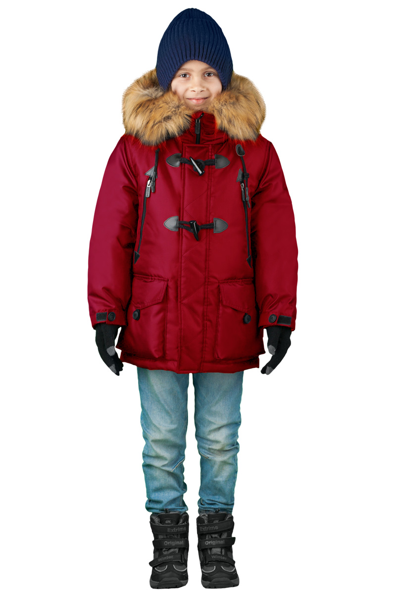 Куртка для мальчика Boom!, цвет: красный. 70490_BOB_вар.3. Размер 116, 5-6 лет70490_BOB_вар.3Куртка для мальчика Boom! идеально подойдет для вашего ребенка в холодное время года. Модель изготовлена из высококачественного материала. Куртка дополнена капюшоном с меховой опушкой. Светоотражающие элементы не оставят вашего ребенка незамеченным в темное время суток. Спина оформлена оригинальным принтом. Теплая, комфортная и практичная куртка идеально подойдет для прогулок и игр на свежем воздухе!