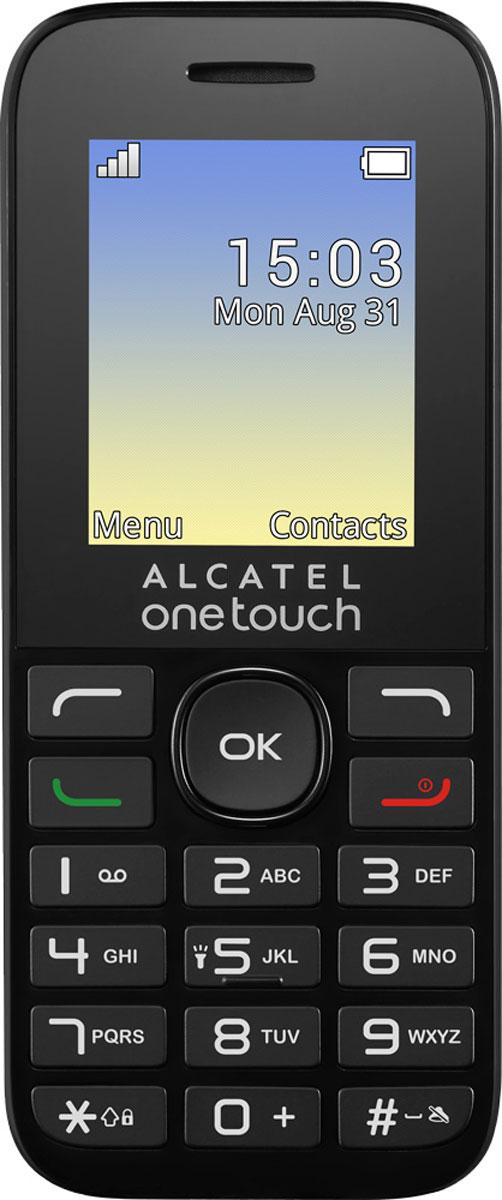 Alcatel OT1020D, Volcano Black4894461398808Alcatel OT1020D – мобильный телефон, предназначенный для тех, кто ищет простое в использовании и надёжное устройство для общения. С его помощью можно совершать звонки, обмениваться SMS. Запаса энергии во встроенном аккумуляторе хватит для долгой работы без подзарядки.Телефон оснащен двумя слотами для SIM-карт. Это даёт возможность пользоваться двумя телефонными номерами, не приобретая при этом второй аппарат. Вы можете получать выгоду от разницы между тарифами разных операторов мобильной связи, а также отвести один номер только под деловые разговоры, а второй оставить для личного общения.Для зарядки аккумулятора предусмотрен разъём microUSB. Это значит, что если владелец потеряет входящее в комплект зарядное устройство, ему несложно будет найти замену.В корпус телефона встроен приёмник, позволяющий слушать передачи радиостанций, вещающих в диапазоне FM.Телефон сертифицирован EAC и имеет русифицированную клавиатуру, меню и Руководство пользователя.