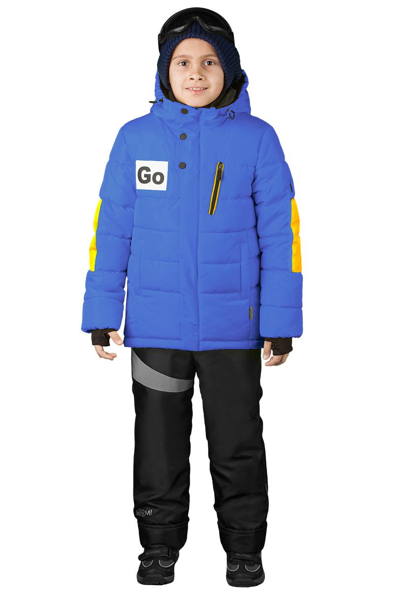 Куртка для мальчика Boom!, цвет: синий. 70489_BOB_вар.2. Размер 104, 3-4 года70489_BOB_вар.2Куртка для мальчика Boom! идеально подойдет для вашего ребенка в холодное время года. Модель с капюшоном изготовлена из высококачественного материала. Капюшон куртки оформлен очками. Спинка модели удлинена. Модель оформлена оригинальными нашивками и декоративными вставками на локтях. Светоотражающие элементы не оставят вашего ребенка незамеченным в темное время суток. Теплая, комфортная и практичная куртка идеально подойдет для прогулок и игр на свежем воздухе!
