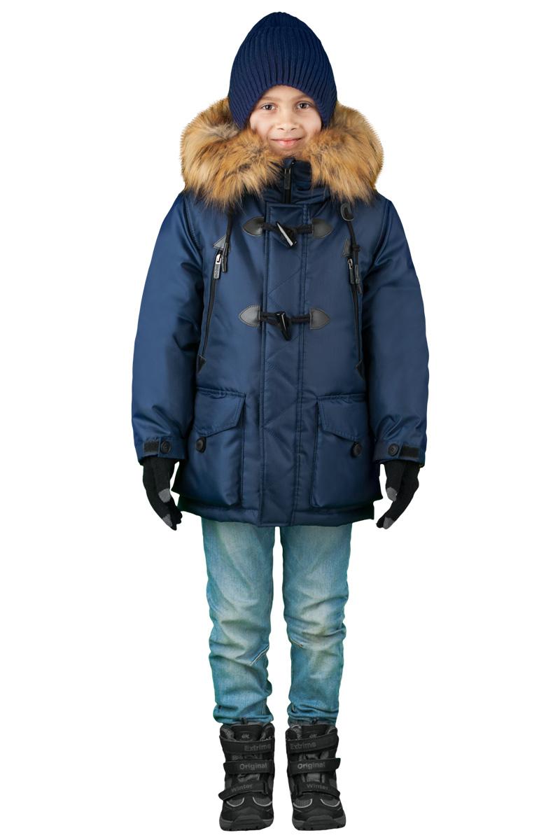 Куртка для мальчика Boom!, цвет: синий. 70490_BOB_вар.1. Размер 128, 7-8 лет70490_BOB_вар.1Куртка для мальчика Boom! идеально подойдет для вашего ребенка в холодное время года. Модель изготовлена из высококачественного материала. Куртка дополнена капюшоном с меховой опушкой. Светоотражающие элементы не оставят вашего ребенка незамеченным в темное время суток. Спина оформлена оригинальным принтом. Теплая, комфортная и практичная куртка идеально подойдет для прогулок и игр на свежем воздухе!