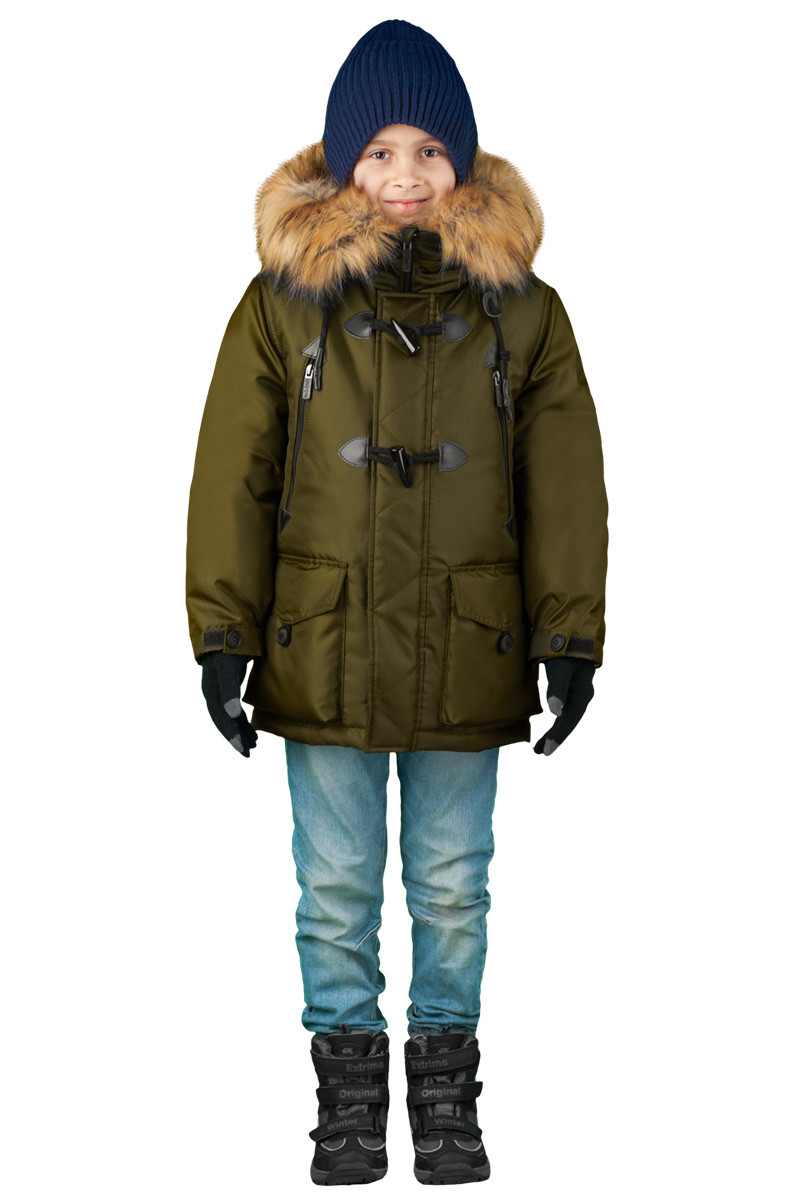 Куртка для мальчика Boom!, цвет: хаки. 70490_BOB_вар.2. Размер 158, 11-12 лет70490_BOB_вар.2Куртка для мальчика Boom! идеально подойдет для вашего ребенка в холодное время года. Модель изготовлена из высококачественного материала. Куртка дополнена капюшоном с меховой опушкой. Светоотражающие элементы не оставят вашего ребенка незамеченным в темное время суток. Спина оформлена оригинальным принтом. Теплая, комфортная и практичная куртка идеально подойдет для прогулок и игр на свежем воздухе!