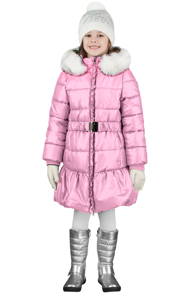 Пальто для девочки Boom!, цвет: розовый. 70477_BOG_вар.1. Размер 116, 5-6 лет