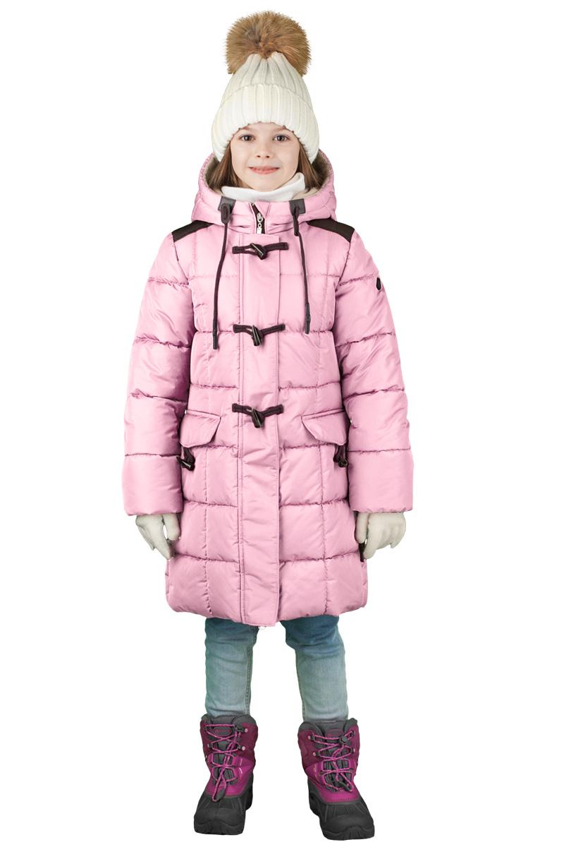Пальто для девочки Boom!, цвет: розовый. 70478_BOG_вар.2. Размер 122, 7-8 лет70478_BOG_вар.2Пальто для девочки Boom! c капюшоном и длинными рукавами выполнено из высококачественного материала. Модель застегивается на застежку-молнию спереди и дополнительно на пуговица. Пальто для девочки классического силуэта, идеально подходящее для школы. Специальные вставки на плечах из износостойкой ткани для школьного рюкзака.