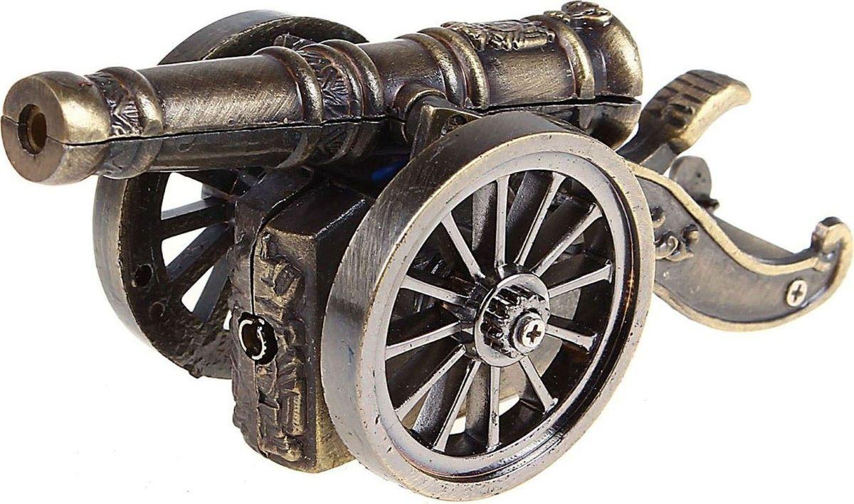 Зажигалка Пушка, 9,5 х 4,5 х 4,5 см271491Перед вами - сувенир в полном смысле этого слова. Преподнесите эту вещь своему другу, и она станет достойным украшением его дома.