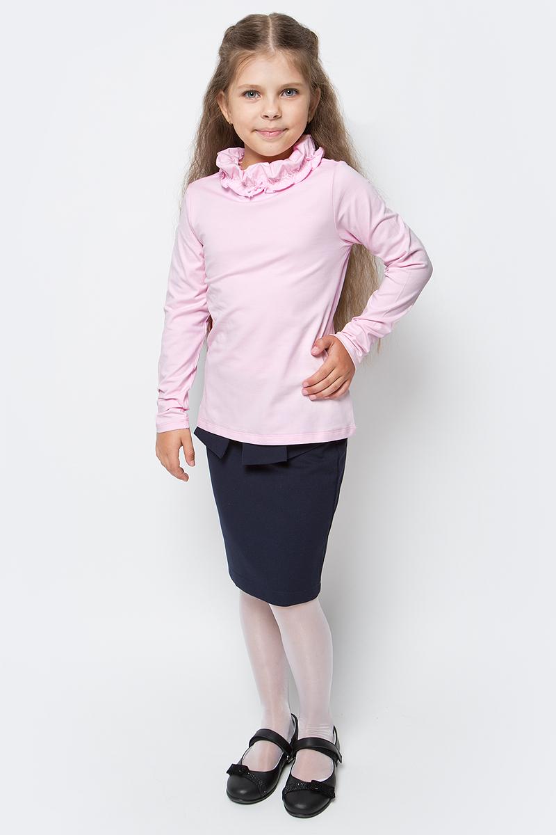 Водолазка для девочки Vitacci, цвет: розовый. 2173087-11. Размер 1462173087-11Водолазка для девочки выполнена из хлопка и эластана. Модель с длинными рукавами.
