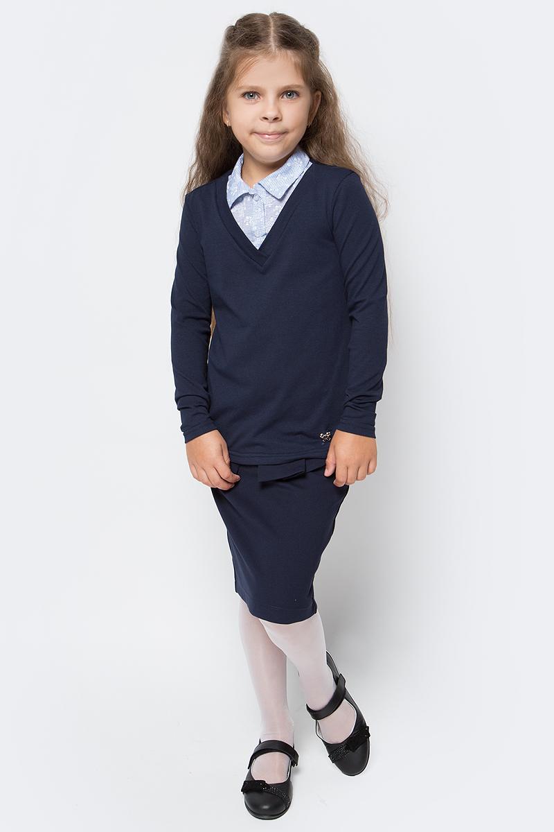 Джемпер для девочки Nota Bene, цвет: темно-синий. CJR27051B29. Размер 158