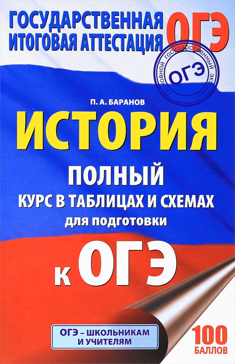 П. А. Баранов История. 6-9 класс. Полный курс в таблицах и схемах для подготовки к ОГЭ