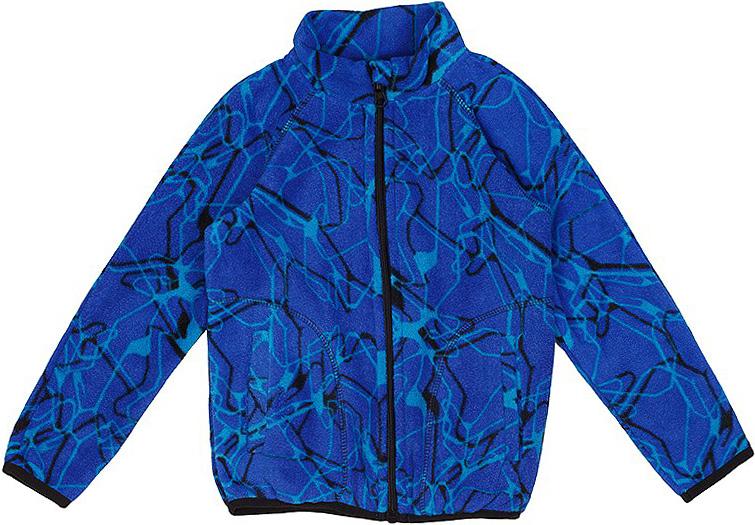 Кофта флисовая для мальчика Oldos Active Ален, цвет: синий, ярко-голубой. 4К1712. Размер 110, 5 лет4К1712Принтованная кофта на молнии из флиса OLDOS ACTIVE на мальчика. Флис имеет двустороннюю антипиллинговую обработку, что позволяет надолго сохранить внешний вид и его основные характеристики. Воротник-стойка хорошо прилегает и закрывает шею ребенка от ветра. Изнутри шов воротника укреплен х/б лентой, что предотвращает деформацию и натирание. Низ рукавов и кофты окантованы эластичной тесьмой, есть карманы. В кофте будет комфортно и тепло на улице и в помещении. Можно использовать в качестве второго слоя в осенне-зимний период.