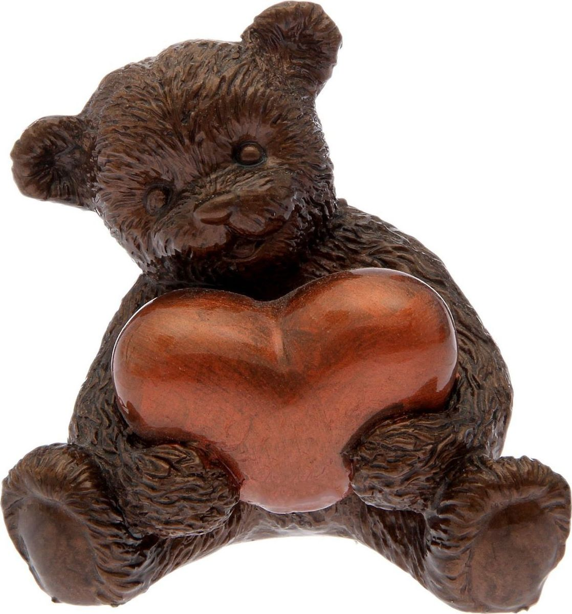 Статуэтка сувенирная Premium Gips Мишка с сердцем, цвет: коричневый, 8 х 10 х 12 см2152896Перед вами — сувенир в полном смысле этого слова. И главная его задача — хранить воспоминание о месте, где вы побывали, или о том человеке, который подарил данный предмет. Преподнесите эту вещь своему другу, и она станет достойным украшением его дома.