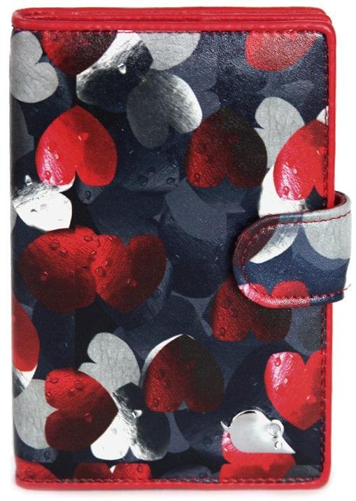 Обложка для автодокументов женская Topo Fortunato, цвет: синий, красный. TF 108-092Натуральная кожаИзысканная обложка для автодокументов Topo Fortunato изготовлена изнатуральной кожи. Закрывается на хлястик с кнопкой. Внутри: слева - прозрачный захват и текстильная подкладка с логотипом, справа- кожаный захват с четырьмя кармашками для пластиковых карт, вкладыш с прозрачными файлами для автодокументов. Размер: 9,5 х 13,5 см.