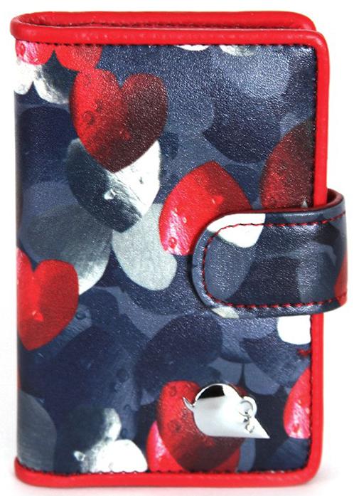 Визитница вертикальная женская Topo Fortunato, цвет: синий, красный. TF 108-100 el topo