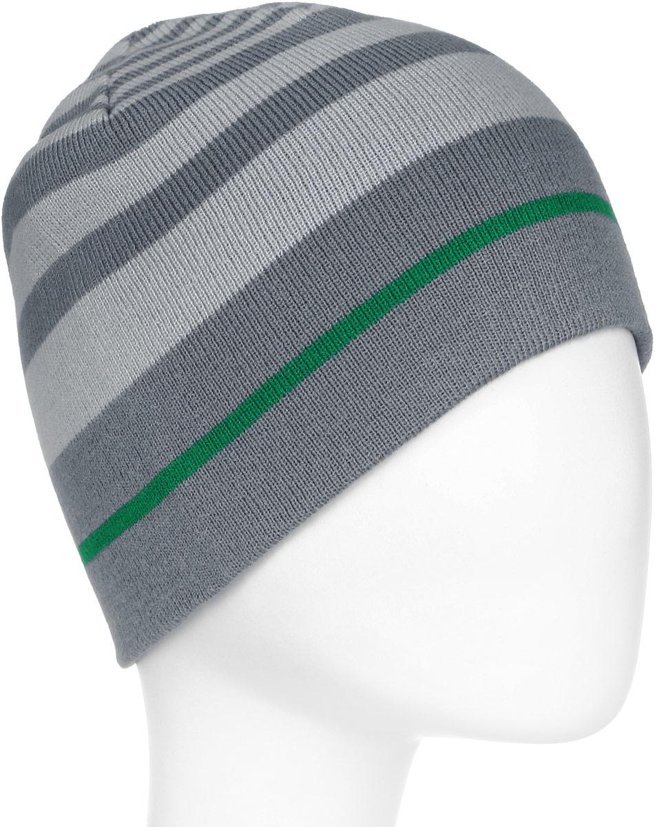 Шапка двусторонняя Jack Wolfskin Horizon Cap, цвет: серый, зеленый. 1905191-6505. Размер универсальный1905191-6505Легкая, теплая двусторонняя шапка из тонкой пряжи. Приятное тепло в неустойчивую зимнюю погоду: двусторонняя шапка HORIZON— универсальный аксессуар для любых ваших планов на природе. Материал тонкой вязки не позволяет голове терять тепло. Благодаря двум вариантам ношения с разным дизайном шапка идеально подходит к зимнему наряду.Изделие оформлено контрастным принтом и дополнено выточкой бренда.Такая шапка составит идеальный комплект с модной верхней одеждой, в ней вам будет уютно и тепло.