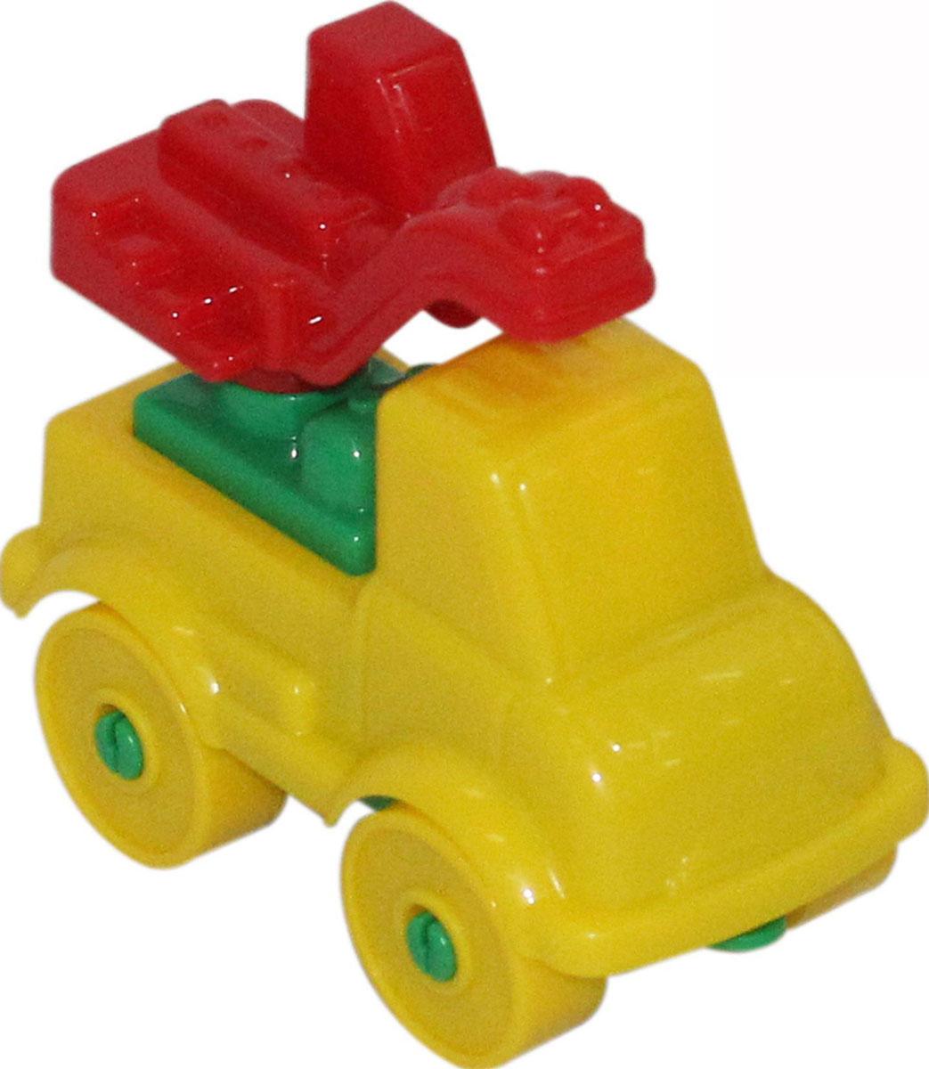 Полесье Конструктор Юный путешественник Автомобиль-кран полесье конструктор автомобиль легковой с прицепом