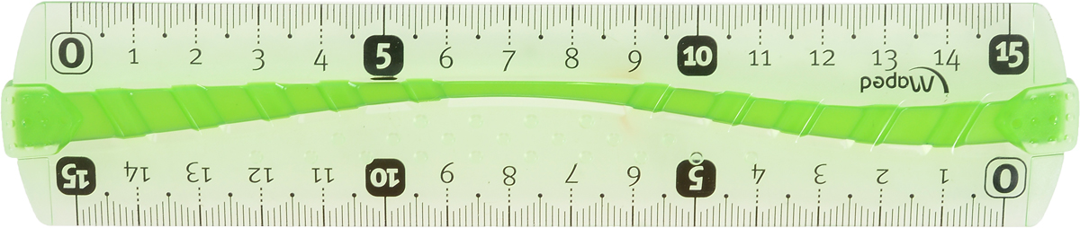 Maped Линейка Flex цвет салатовый 15 см244060_салатовыйЛинейка - необходимый инструмент вашего рабочего стола.Линейка Maped Flex может понадобиться при изучении любого школьного предмета. Провести прямую линию и начертить отрезок на уроке математики? Легко! Подчеркнуть подлежащее, сказуемое или деепричастный оборот в домашнем задании по русскому языку? Проще простого!Линейка имеет по всей длине полоску резины, которая защищает ее от поломки. Если ваша линейка согнется, она с легкостью вернется в исходное положение.Возможности применения этого приспособления широки: оно пригодится как на занятиях в учебном заведении, так и при выполнении работы дома, а также поспособствует развитию начальных навыков черчения!
