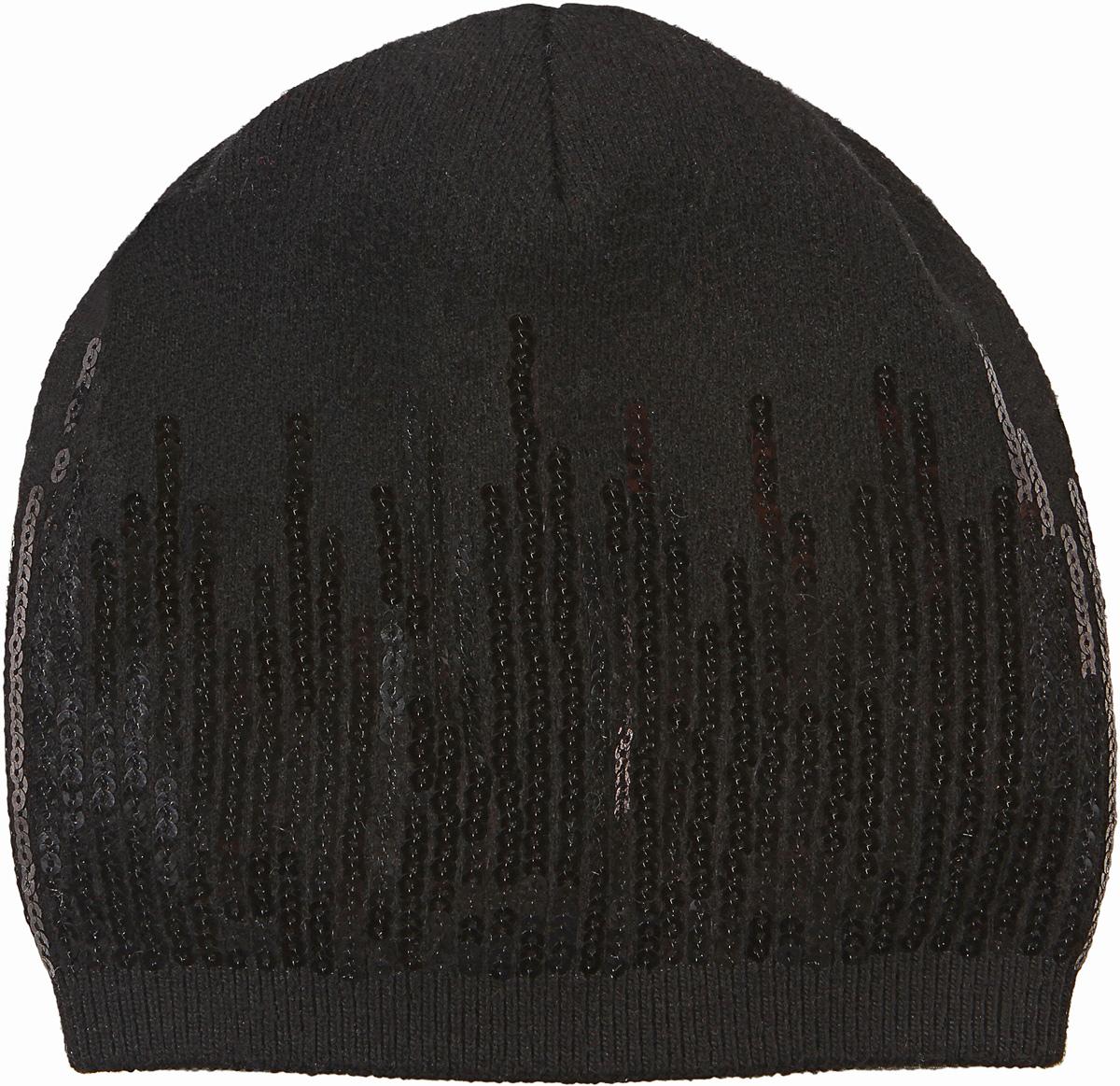 Шапка женская Модные истории, цвет: черный. 4/0061/030. Размер универсальный