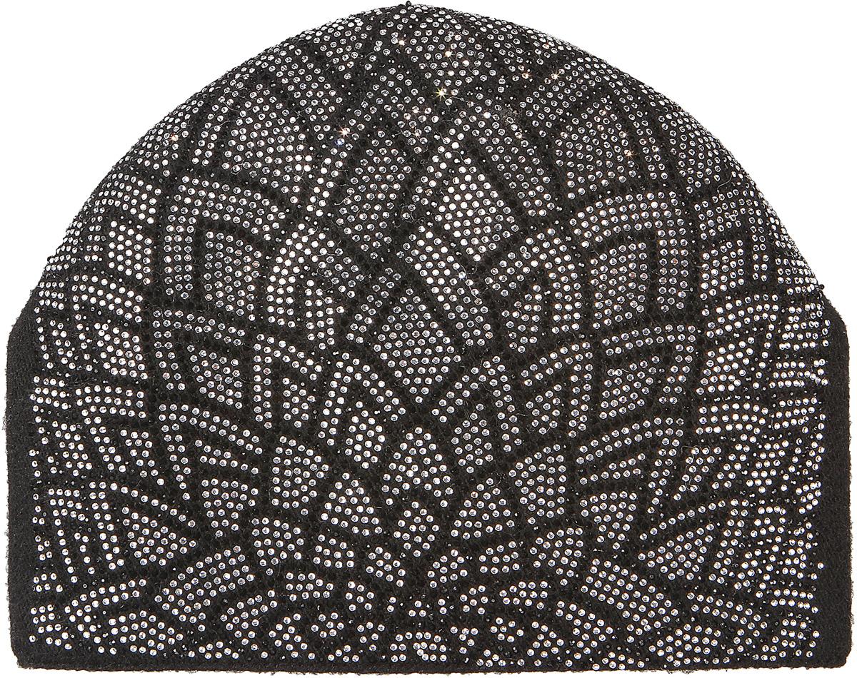 Шапка женская Модные истории, цвет: черный. 4/0064/030. Размер универсальный