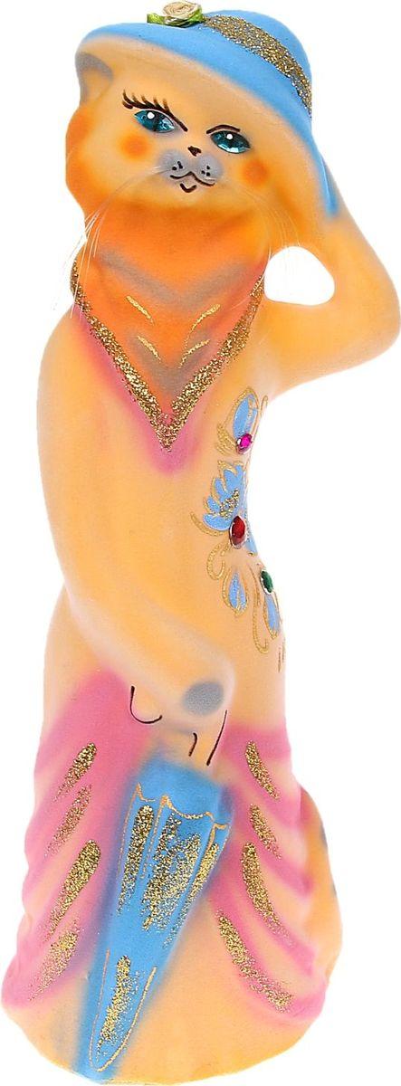 Копилка Керамика ручной работы Барышня в шляпе, 42 х 11 х 12 см1074515Женщины любят баловать себя покупками для красоты и здоровья. С помощью такой копилки можно незаметно приблизиться к приобретению желаемого. Образ кошки всегда олицетворял привлекательность и символизировал домашнее спокойствие. Поставьте изделие возле предметов роскоши, и оно будет способствовать их преумножению.