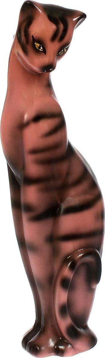 Копилка Керамика ручной работы Багира, 13 х 15 х 50 см. 14289601428960Женщины любят баловать себя покупками для красоты и здоровья. С помощью такой копилки можно незаметно приблизиться к приобретению желаемого. Образ кошки всегда олицетворял привлекательность и символизировал домашнее спокойствие. Поставьте изделие возле предметов роскоши, и оно будет способствовать их преумножению.