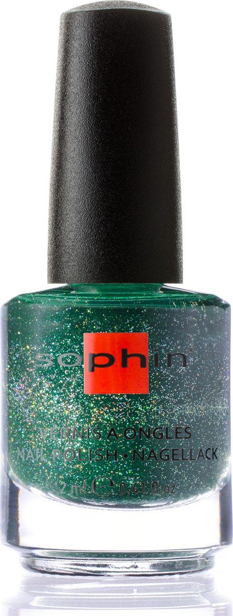 Sophin Лак для ногтей Luxury And Style Boheme тон 0371, 12 мл0371Темно-зеленый желейный лак с содержанием большого количества голографических частиц. Идеален при нанесении в два слоя. Глянцевый финиш. BIG5FREE.