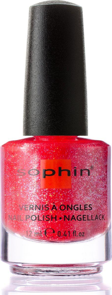 Sophin Лак для ногтей Luxury And Style Haute Couture тон 0373, 12 мл0373Розово-красный желейный лак с содержанием большого количества голографических частиц. Идеален при нанесении в два слоя. Глянцевый финиш. BIG5FREE.