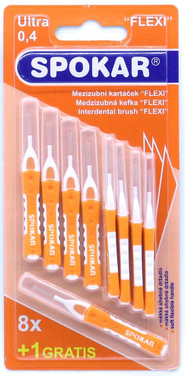 Spokar Flexi 0,4 цилиндрический ершик с гибкой двукомпонентной ручкой, 8 шт + 1 шт04FИнтердентальный цилиндрический ершик с гибкой двукомпонентной ручкой, в индивидуальном колпачке, диаметр 0,4мм; 8 шт. + 1шт.