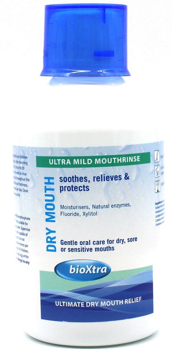 Bioxtra увлажняющий ополаскиватель полости рта, 250 мл20020Ополаскиватель полости рта с антибактериальными ферментами слюны, монофторфосфатом натрия (1500 ppm), алоэ вера и ксилитом. Не содержит спирта, 250 мл