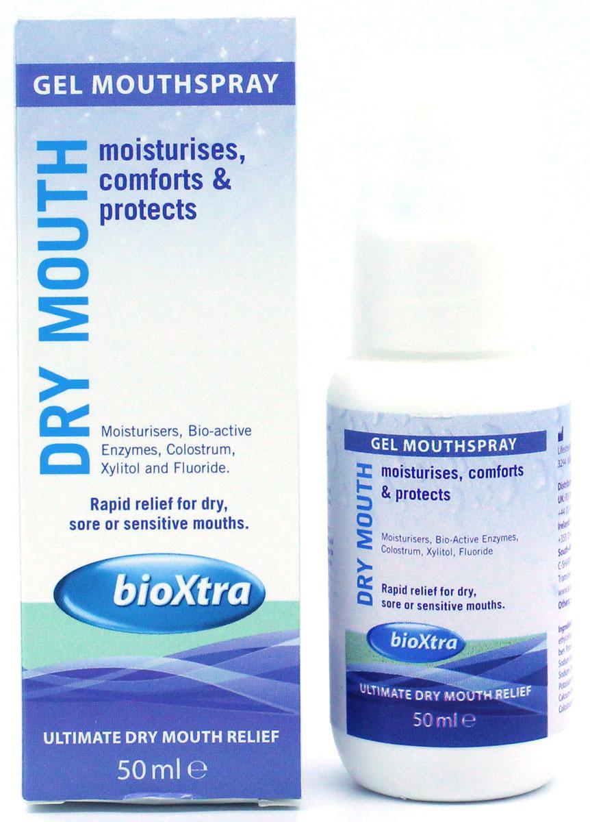 Bioxtra увлажняющий спрей, 50 мл20099Увлажняющий спрей с антибактериальными ферментами слюны, минералами, монофторфосфатом натрия (150 ppm) и ксилитом, 50 мл