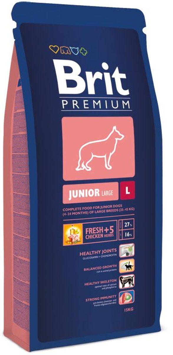 Корм сухой Brit Premium Junior L для молодых собак крупных пород, с курицей и травами, 15 кг132329Сухой корм Brit Premium Junior L - это полноценное и сбалансированное питание для щенков и молодых собак (4-24 месяца) крупных пород весом от 25-45 кг. Для собак крупных пород очень важно правильное поэтапное питание в период роста. Период роста у собак крупных пород длится до двух лет, это более длительный процесс, чем у мелких и средних пород. Поэтому первые три месяца у щенков крупных пород повышенная потребность в белках и энергии, что необходимо для правильного формирования костей и мышц. Собаки крупных пород очень часто имеют чувствительный желудочно-кишечный тракт, поэтому для них очень важно содержание пребиотиков в корме, так как они улучшают здоровье кишечной флоры и поддерживают нормальное функционирование желудочно-кишечного тракта. Состав: мука из мяса курицы (42%), рис, кукуруза, пшеница, куриный жир (консервированный токоферолами), масло лосося, пивные дрожжи, натуральные ароматизаторы, сушеные яблоки, минеральные вещества, экстракт из трав и фруктов (300 мг/кг), глюкозамин гидрохлорид (260 мг/кг), хондроитин сульфат (160 мг/кг), мананоолигосахариды (150 мг/кг), фруктоолигосахариды (100 мг/кг), экстракт юкки шидигеры (80 мг/кг), органическая медь Е4, органический цинк Е6, органический селен Е8. Аналитические составляющие: сырой протеин 27,0%, сырой жир 16,0%, влага 10,0%, сырая зола 6,4%, сырая клетчатка 2,3%, кальций 1,6%, фосфор 1,1%.Пищевые добавки на 1 кг: витамин A 20 000 МЕ, витамин D3 1 900 МЕ, витамин E (q-токоферол) 600 мг, Е6 цинк 100 мг. Е1 железо 90 мг, Е5 марганец 45 мг, Е4 медь 20 мг, Е2 йод 1 мг, Е8 селен 0,2 мг. Энергетическая ценность: 4218 ккал/кг.Товар сертифицирован.
