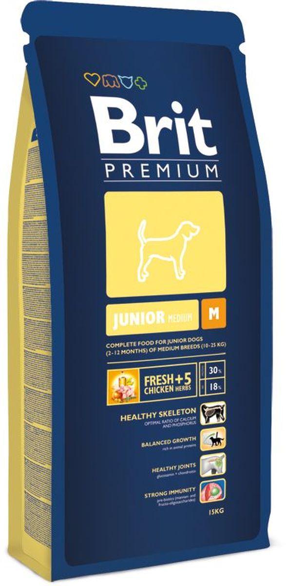 Корм сухой Brit Premium Junior M для молодых собак средних пород от 2 до 12 месяцев, с курицей, 15 кг132331Высококачественный корм Brit Premium Junior M является полнорационным кормом для щенков и молодых собак (2-12 месяцев) средних пород (10-25 кг). Как правило, собаки средних пород - рабочие собаки. Для активно работающих собак очень важно иметь правильное пищеварение и здоровый пищеварительный тракт, что в полной мере может обеспечить баланс клетчатки и пребиотиков, который оптимален в кормах Brit. Содержание Омега-3 и Омега-6 жирных кислот способствует правильному развитию и деятельности головного мозга, что особенно важно для собак рабочих пород, т.к. они должны иметь высокую способность к быстрому обучению. Жирные кислоты так же поддерживают отличное состояние кожи и шерсти, способствует скорейшему заживлению ран и восстановлению после травм, а входящие в состав активные антиоксиданты, поддерживают развитие деятельности иммунной системы. Средние породы склонны к ожирению, поэтому для них необходим оптимальный баланс протеинов и жиров. Состав: мука из мяса курицы (42%), рис, кукуруза, пшеница, куриный жир (консервированный токоферолами), масло лосося, пивные дрожжи, натуральные ароматизаторы, сушеные яблоки, минеральные вещества, экстракт из трав и фруктов (300 мг/кг), глюкозамина гидрохлорид (260 мг/кг), хондроитина сульфат (160 мг/кг), мананоолигосахариды (150 мг/кг), фруктоолигосахариды (100 мг/кг), экстракт юкки шидигеры (80 мг/кг), органическая медь, органический цинк, органический селен. Пищевая ценность: сырой протеин - 30%, сырой жир - 18%, влага - 10%, сырая зола - 6,3%, сырая клетчатка - 2,4%, кальций - 1,5%, фосфор - 1%. Пищевые добавки на 1 кг: витамин А - 20000 МЕ, витамин D3 - 1900 МЕ, витамин Е (а-токоферол) - 600 мг, Е1 железо - 80 мг, Е6 цинк - 70 мг, Е5 марганец - 36 мг, Е4 медь - 20 мг, Е2 йод - 0,65 мг, Е8 селен - 0,2 мг. Энергетическая ценность: 4329 ккал/кг. Товар сертифицирован.