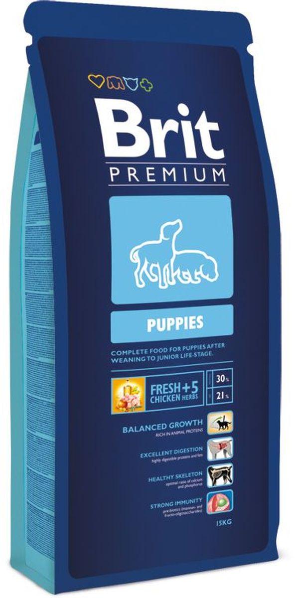 Корм сухой Brit Premium Puppies, для щенков всех пород, с курицей и травами, 15 кг132341Высококачественный корм Brit Premium Puppies является полнорационным кормом для щенков всех пород в период перехода с материнского молока на полнорационные корма. 4-8 недель для средних пород (10-25 кг); 4-16 недель для крупных пород (25-45 кг); 4-16 недель для очень крупных пород (45-90 кг). Рекомендуется также для беременных и кормящих сук. Состав: мука из мяса курицы (45%), рис, кукуруза, куриный жир (консервированный токоферолами), масло лосося, пивные дрожжи, натуральные ароматизаторы, сушеные яблоки, минеральные вещества, экстракт из трав и фруктов (300 мг/кг), мананоолигосахариды (150 мг/кг), фруктоолигосахариды (100 мг/кг), экстракт юкки шидигеры (80 мг/кг), органическая Е4 медь, органический Е6 цинк, органический селен. Пищевая ценность: сырой протеин - 30%, сырой жир - 21%, влага - 10%, сырая зола - 6,5%, сырая клетчатка - 2%, кальций - 1,5%, фосфор - 1,1%. Пищевые добавки на 1 кг: витамин А - 20000 МЕ, витамин D3 - 1900 МЕ, витамин Е - 600 мг, железо - 80 мг, цинк - 70 мг, марганец - 36 мг, медь - 20 мг, йод - 0,65 мг, селен - 0,2 мг. Энергетическая ценность: 4518 ккал/кг. Товар сертифицирован.