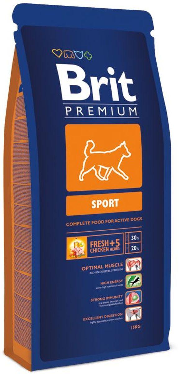 Корм сухой Brit Premium Sport для активных собак всех пород, с курицей и травами, 15 кг132351Сухой корм Brit Premium Sport - полнорационный сбалансированный корм для взрослых собак с повышенными физическими нагрузками: - Рабочие породы собак: ездовые, охотничьи, охранные, гончие. - Все породы собак, восстанавливающиеся после болезни или операции. Состав: мука из мяса курицы (45%), рис, кукуруза, пшеница, куриный жир (консервированный токоферолами), масло лосося, пивные дрожжи, натуральные ароматизаторы, экстракт из трав и фруктов (300 мг/кг), сушеные яблоки, минеральные вещества, мананоолигосахариды (150 мг/кг), фруктоолигосахариды (100 мг/кг), экстракт юкки шидигеры (80 мг/кг), органическая Е4 медь, органический Е6 цинк, органический селен. Аналитические составляющие: сырой протеин 30,0%, сырой жир 20,0%, влага 10,0%, сырая зола 6,8%, сырая клетчатка 2,2%, кальций 1,6%, фосфор 1,2%.Пищевые добавки (на 1 кг): витамин A 15 000 МЕ, витамин D3 1 500 МЕ, витамин E (альфа-токоферол) 500 мг, Е1 железо 80 мг, Е6 цинк 70 мг, Е5 марганец 36 мг, Е4 медь 20 мг, Е2 йод 0,65 мг, Е8 селен 0,2 мг. Энергетическая ценность: 4382 ккал/кг. Товар сертифицирован.